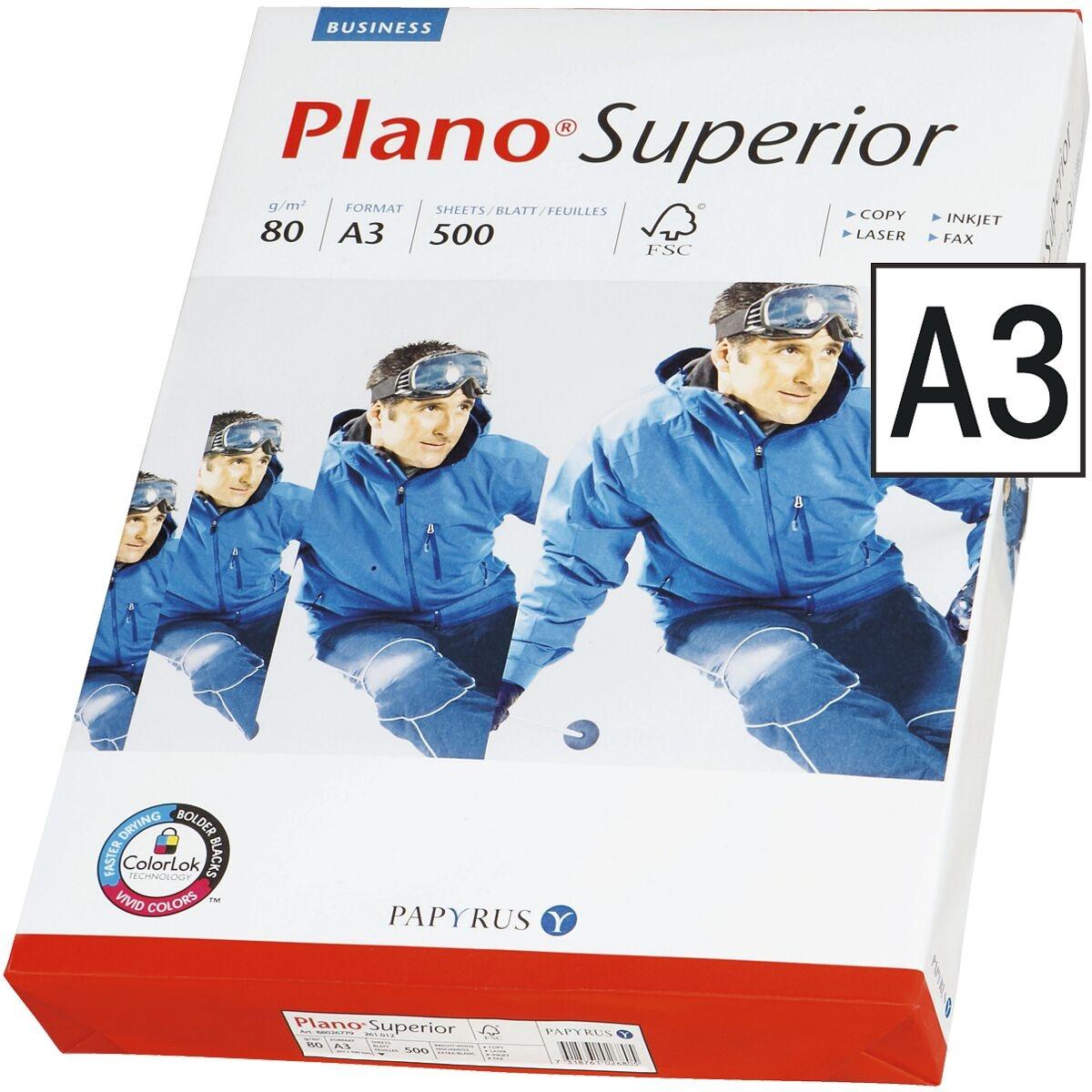 Multifunktionales Druckerpapier A3 Plano Superior - 500 Blatt gesamt