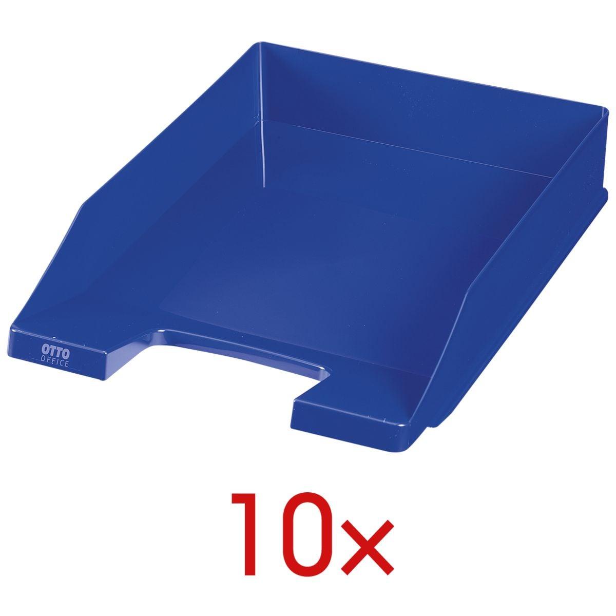 10x OTTO Office Briefablage Economy, C4 Polystyrol, stapelbar bis 20 Stück