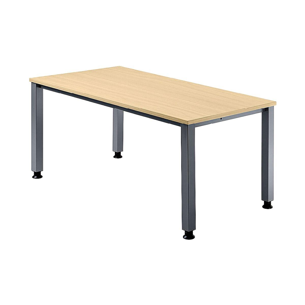 HAMMERBACHER Schreibtisch »Q-Line« 180 cm, 4-Fuß alufarben