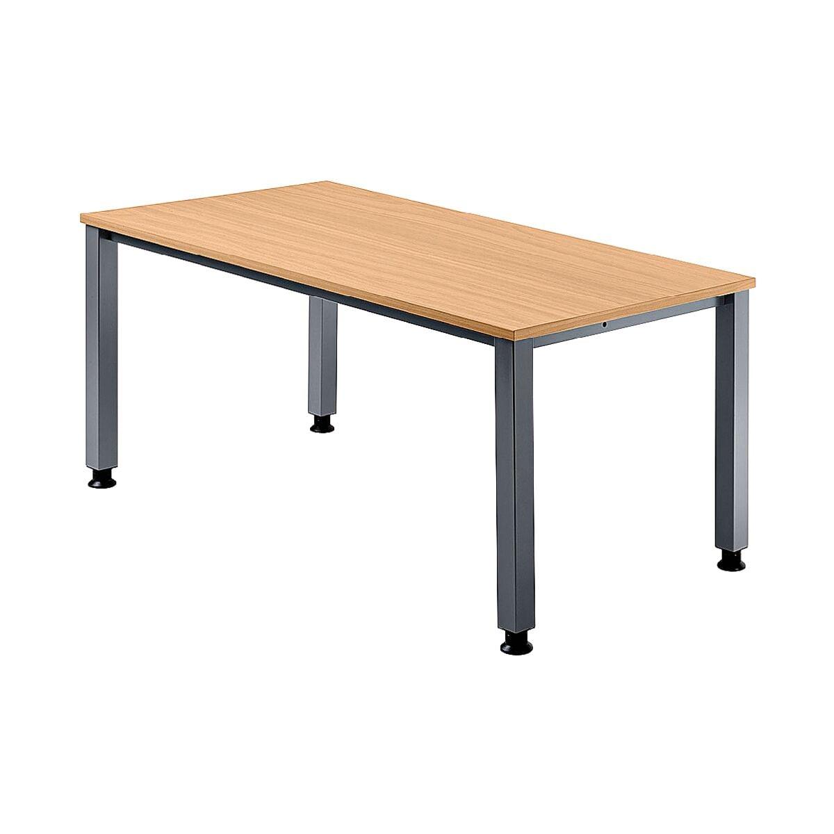 hammerbacher schreibtisch q line 180 cm 4 fu alufarben bei otto office g nstig kaufen. Black Bedroom Furniture Sets. Home Design Ideas