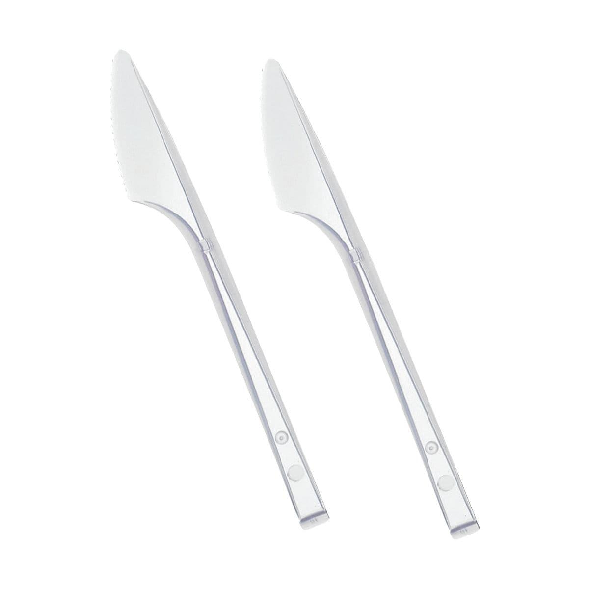 Papstar Einweg-Messer (transparent)
