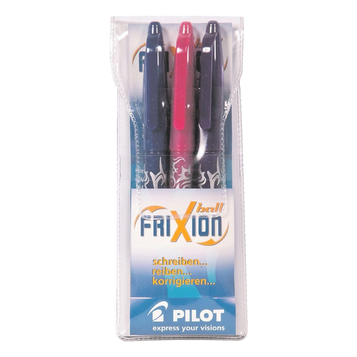 3x Tintenroller Pilot FriXion Ball 0.7, radierbar