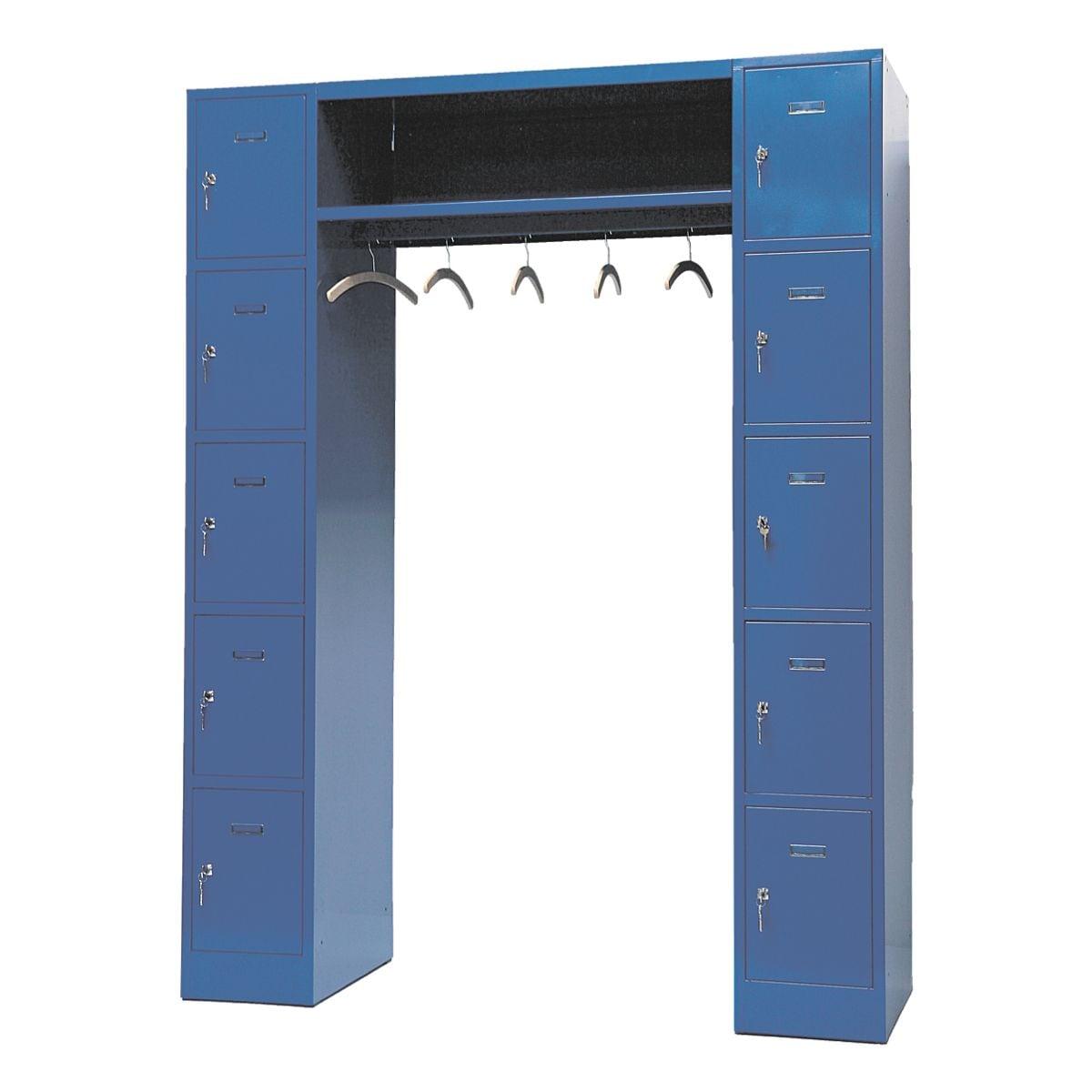 offener garderobenschrank 2x5 stahl auf sockel 160 x 195 cm bei otto office g nstig kaufen. Black Bedroom Furniture Sets. Home Design Ideas