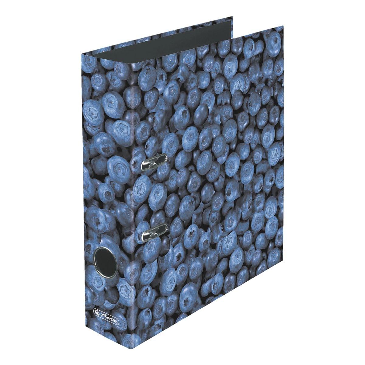 Motivordner A4 Herlitz Blaubeere breit
