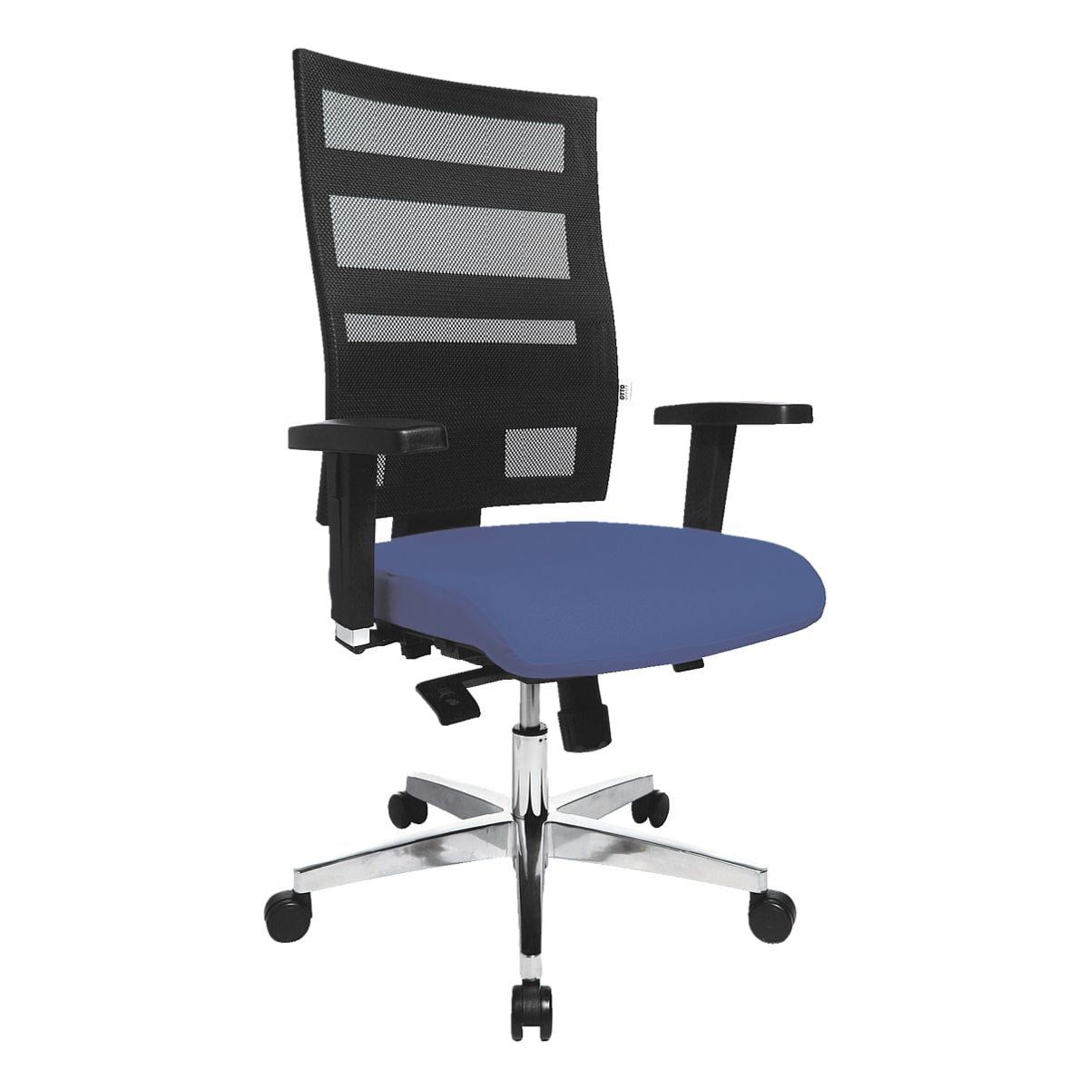 Bürostuhl OTTO Office Premium mit Armlehnen, Netzrücken schwarz