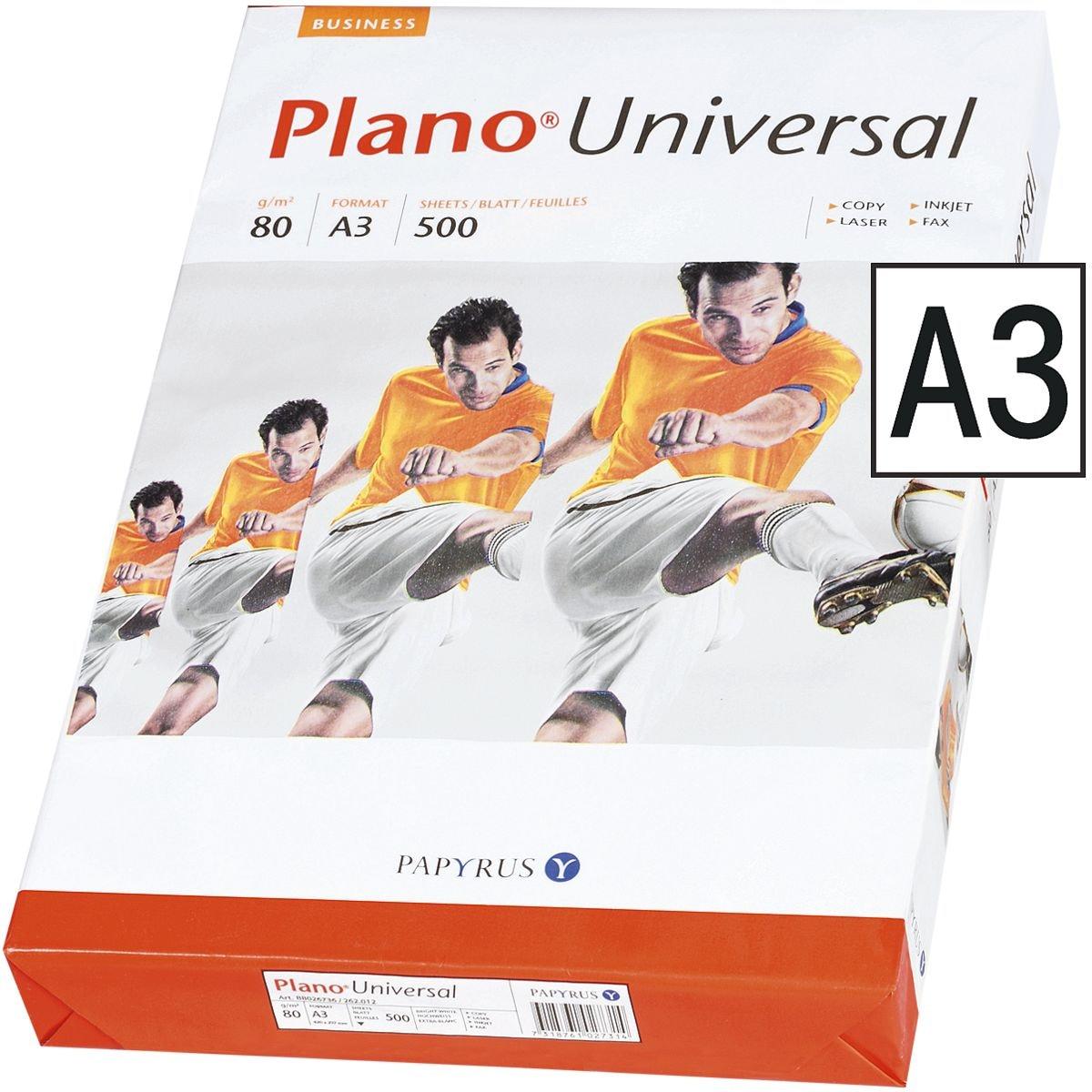 Kopierpapier A3 Plano Universal - 500 Blatt gesamt, 80g/qm