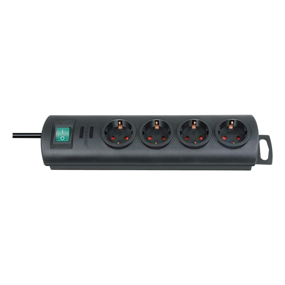 4-fach Steckdosenleiste Brennenstuhl Primera-Line mit Schalter, schwarz