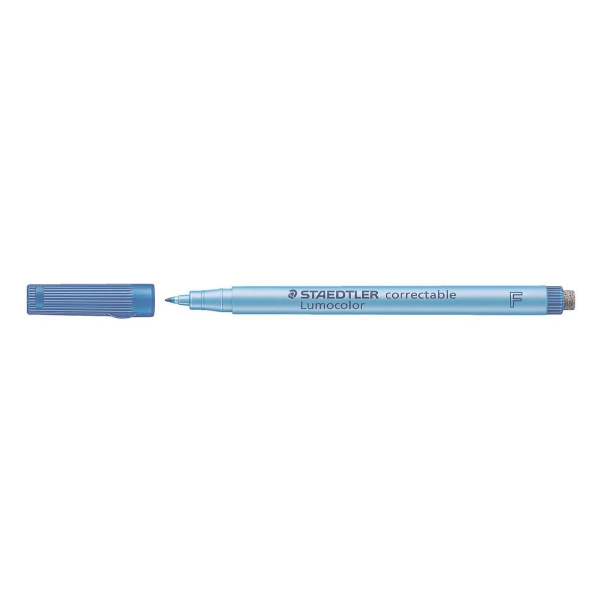 STAEDTLER Universalstift Lumocolor correctable - Rundspitze, Strichstärke 0,6 mm (F)