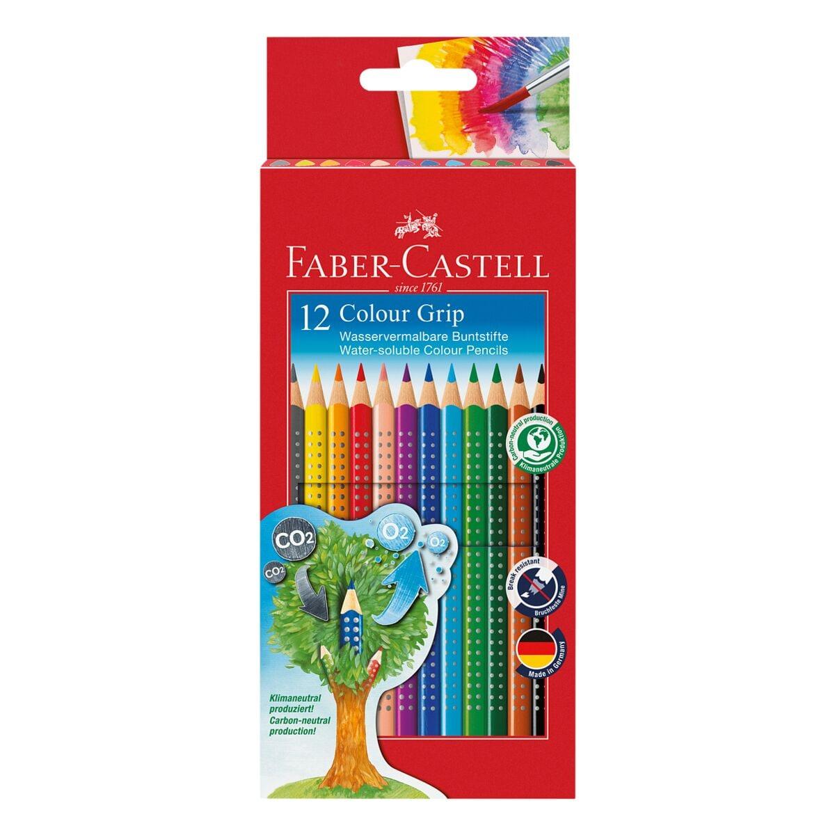 Faber-Castell (Schule) 12er-Pack Buntstifte »Colour-GRIP«