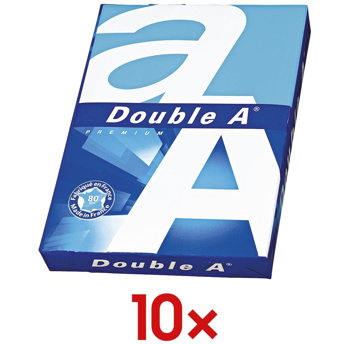 10x A4 Double A Premium - 5000 Blatt gesamt