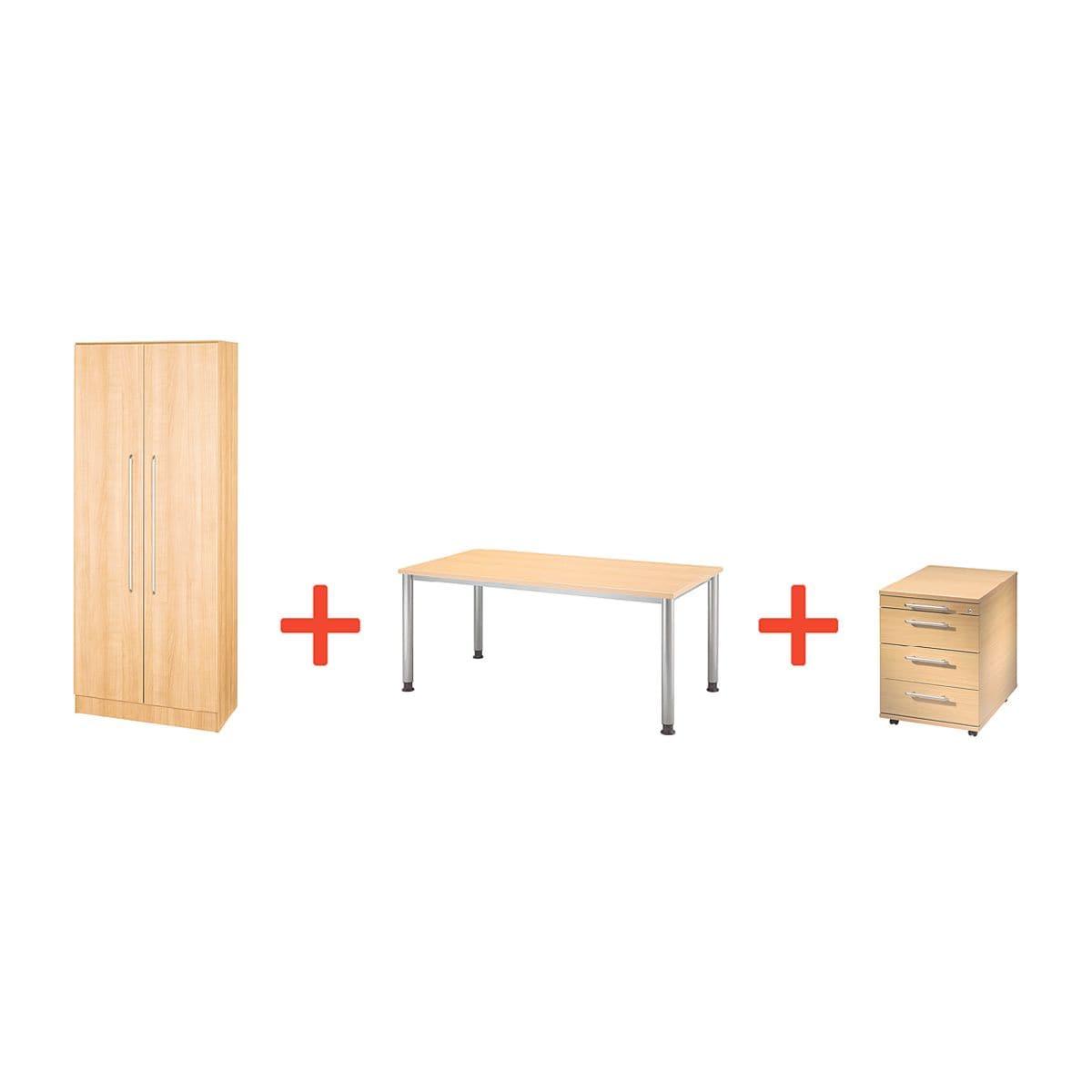 otto office premium m bel set otto office line i 3 teilig schreibtisch mit 4 fu bei otto. Black Bedroom Furniture Sets. Home Design Ideas