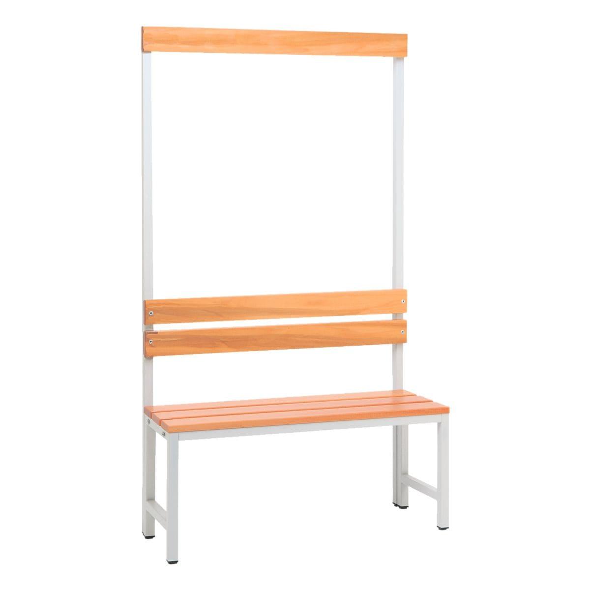 Sitzbank 1 m, mit Hakenleiste-Garderobe