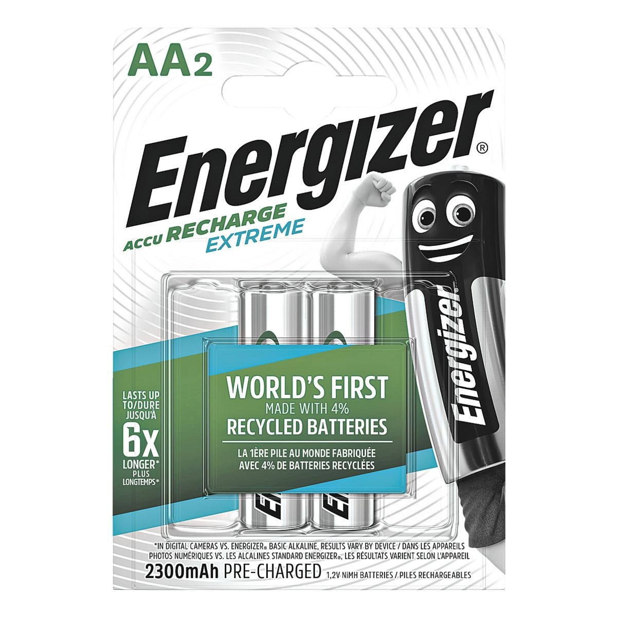 Energizer Akkus Mignon / AA / HR6 (2 Stk - 2300 mAh)