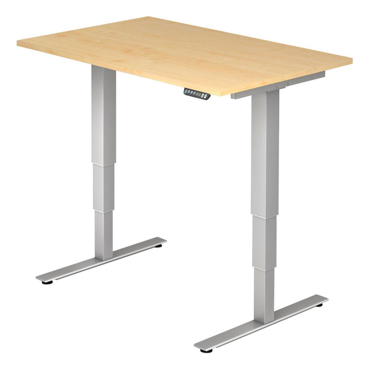 HAMMERBACHER Schreibtisch »Ergonomic« 120 cm, T-Fuß silberfarben