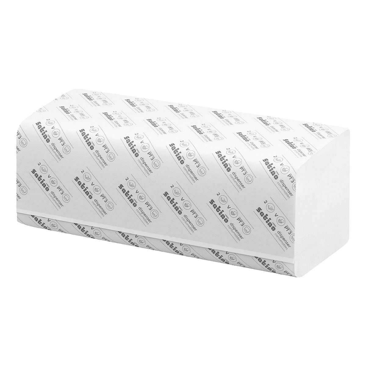 Papierhandtücher Satino comfort 2-lagig, naturweiß, 25 cm x 23 cm aus Tissue mit Z-Falzung - 3200 Blatt gesamt