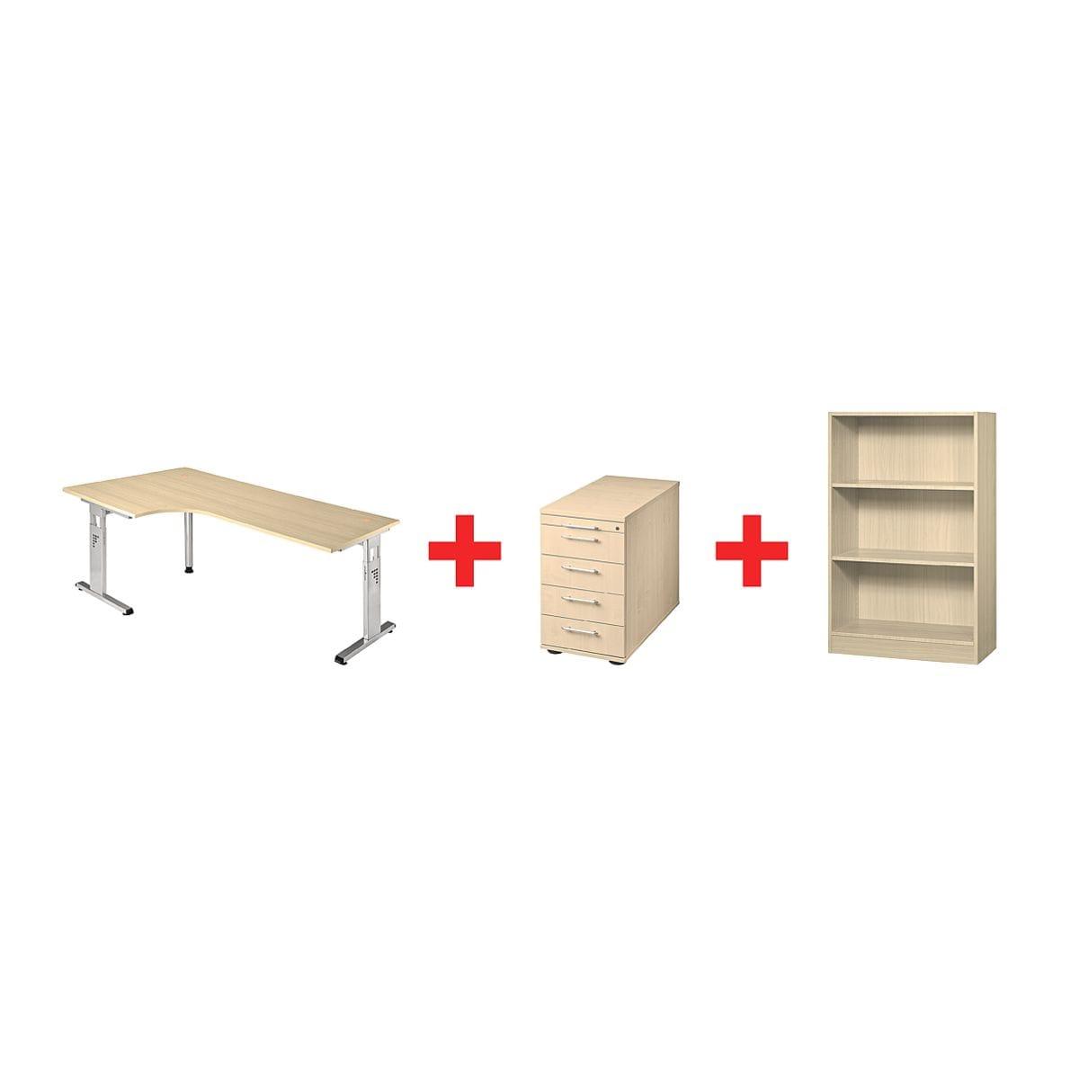 otto office premium m bel set o line 3 teilig mit winkelschreibtisch bei otto office. Black Bedroom Furniture Sets. Home Design Ideas