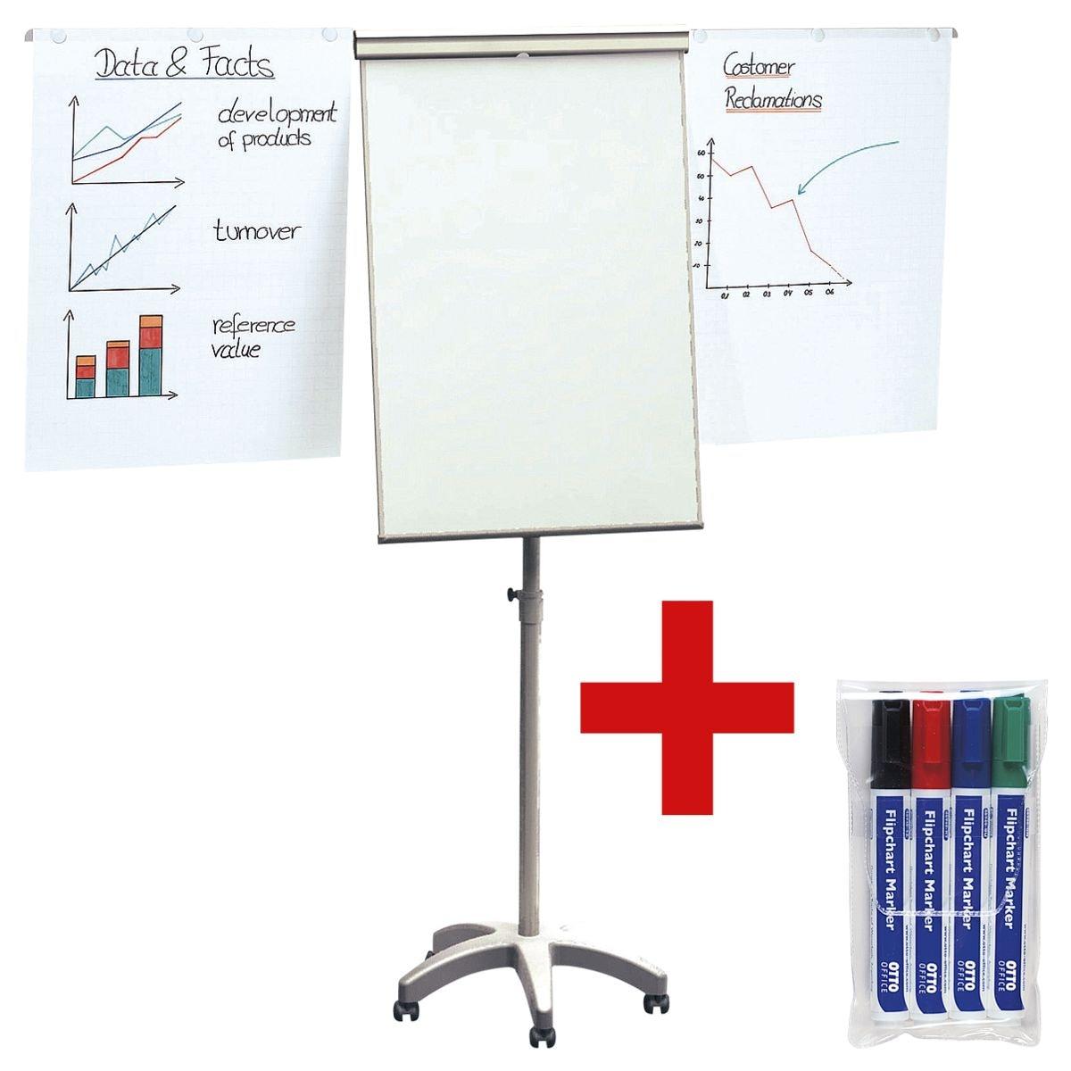 OTTO Office Flipchart »Mobil« inkl. 4er-Pack Flipchart Marker