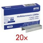OTTO Office 20 Packungen Heftklammern »24/6«