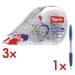 3 Einweg-Korrekturroller �Mini Pocket Mouse� inkl. 1 Kugelschreiber �Atlantis�