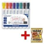 Staedtler 8er-Pack Whiteboard-Marker »Lumocolor 351«  inkl. Fruchtgummi »Goldbären«