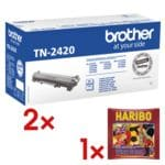 Brother 2x Toner »TN-2420« inkl. 1x Fruchtgummi »Wine Gums«