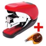 PLUS JAPAN Mini-Tacker / Heftgerät »Flat Clinch« inkl. Einweg-Korrekturroller »Sideway FX«