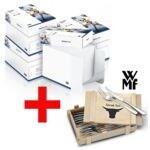 4x Öko-Box Kopierpapier A4 Inapa tecno Star inkl. 12-teiliges Steakbesteck-Set »Nuova« mit Holzkiste