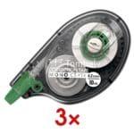 3er-Pack Einweg-Korrekturroller »MONO«