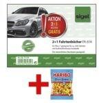 3x Fahrtenbuch »FA614« (A6 quer) inkl. Fruchtgummi »Pico Balla«