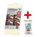 Gelbes Kontaktschutzpapier »300x150 mm« inkl. 15er-Pack antibakterielle Feuchttücher »Ultra Compact«
