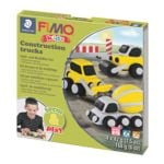 Spiel- und Modellier-Set »Fimo Kids - Construction Trucks«