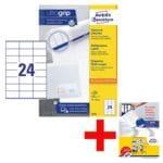 Avery Zweckform 2400er-Pack Universal Klebeetiketten »3475« inkl. Musterset »Selbstklebende Ordnerrücken-Etiketten ultragrip«