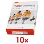10x Kopierpapier A4 Plano Universal - 5000 Blatt gesamt, 80 g/m²
