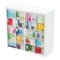 easyOffice Schrank abschließbar, 110 x 104 cm, Rollladen, Stahl / Kunststoff