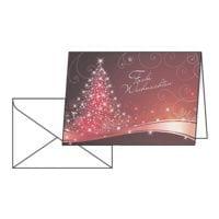 Weihnachtskarte SIGEL Christmas Swing DS 019, A6, mit Umschlag, 25 Stück