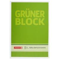Brunnen Briefblock Der grüne Block, A5, kariert, 50 Blatt