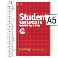 Brunnen Collegeblock Student A5 kariert, 80 Blatt