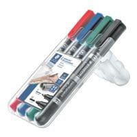 STAEDTLER Permanent-Marker Lumocolor permanent duo - Rundspitze, Strichstärke 0,6  - 1,5 mm (F/M)