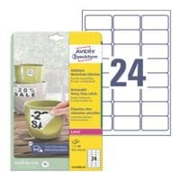 Avery Zweckform Wetterfeste Folien-Etiketten 63,5 x 33,9 mm »L4773REV-20«