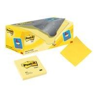 20x Post-it Notes Haftnotizblock Notes 7,6 x 7,6 cm, 2000 Blatt gesamt, gelb
