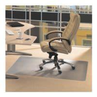 Bodenschutzmatte für Teppichböden, Vinyl, Rechteck 115 x 134 cm, Floortex