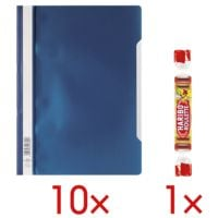 Durable 10x Schnellhefter A4 inkl. 1x Fruchtgummi »Roulette«