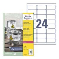 Avery Zweckform Wetterfeste Folien-Etiketten 63,5 x 33,9 mm »L4773-100«