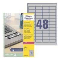 Avery Zweckform Silberne Typenschild-Etiketten 45,7x21,2 mm »L6009-100« 4800 Stück