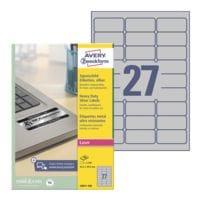Avery Zweckform Silberne Typenschild-Etiketten 63,5x29,6 mm »L6011-100« 2700 Stück