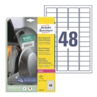 Avery Zweckform Ultra-Resistente 45,7x21,2 mm Folien-Etiketten L7911-10