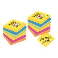 9+3 Post-it 7,6 x 7,6 cm Vorteils-Set Super Sticky »Rio de Janeiro« Haftnotizblock, 1080 Blatt gesamt, farbig sortiert 654SR9+3