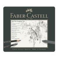 Faber-Castell Grafitstifte und -kreiden mit Zubehör »PITT Graphite Set«