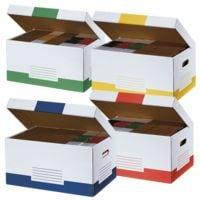 cartonia Klappdeckel-Container »Color« - 10 Stück