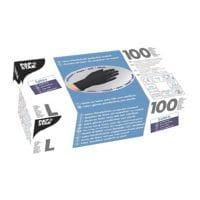 100 Papstar Einmalhandschuhe Latex, Größe L schwarz